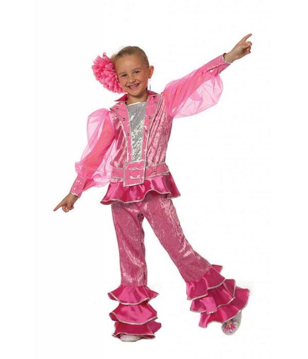Mama Mia kostuum kind roze