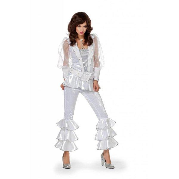 Mama Mia kostuum luxe wit