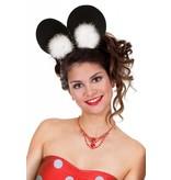 Haarband muis met Marabou