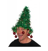 Kerstboomhoed met kerstballen