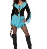 Indiaanse Wishbone kostuum vrouw