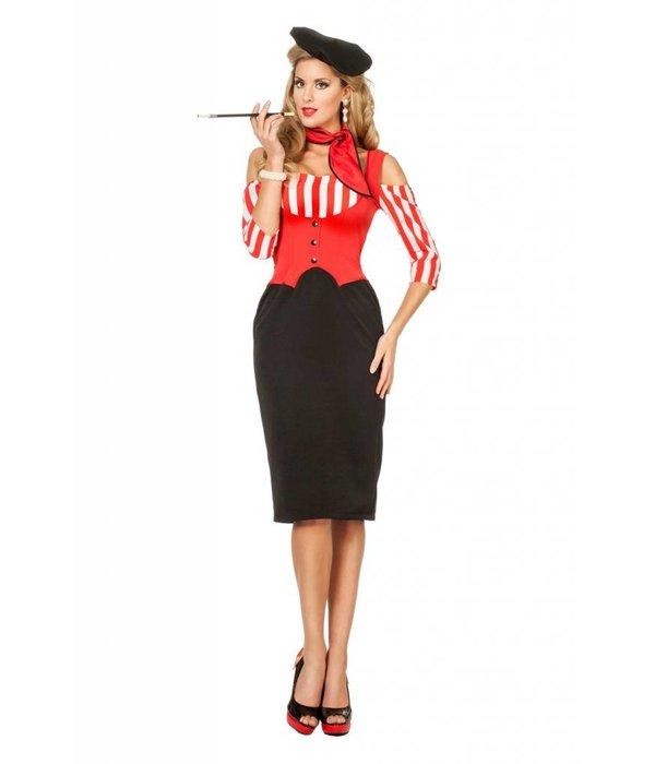 Frenchy kostuum vrouw elite
