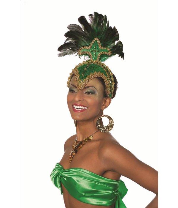 Carnavals Hoofdtooi groen elite