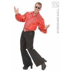 Rood shirt pailletten man