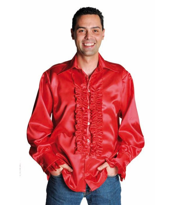 Rouches blouse luxe rood