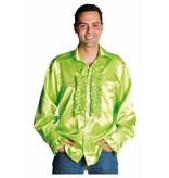 Rouches blouse luxe fluor groen