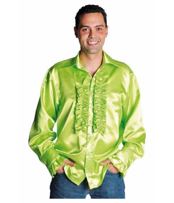 Rouches blouse luxe fluor groen
