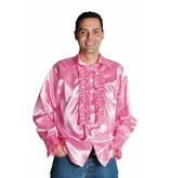 Rouches blouse luxe roze