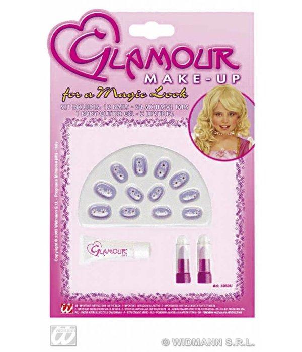 Glamour Girl nagelset + lippenstift
