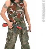 Mouwloos camouflageshirt