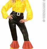 Zwarte broek met 3 kleuren pailletten