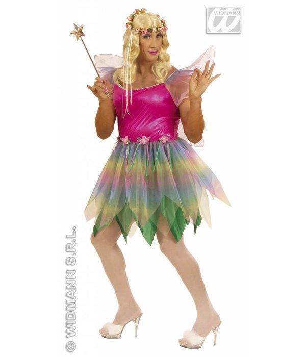 Mannelijke regenboog Fee XL kostuum