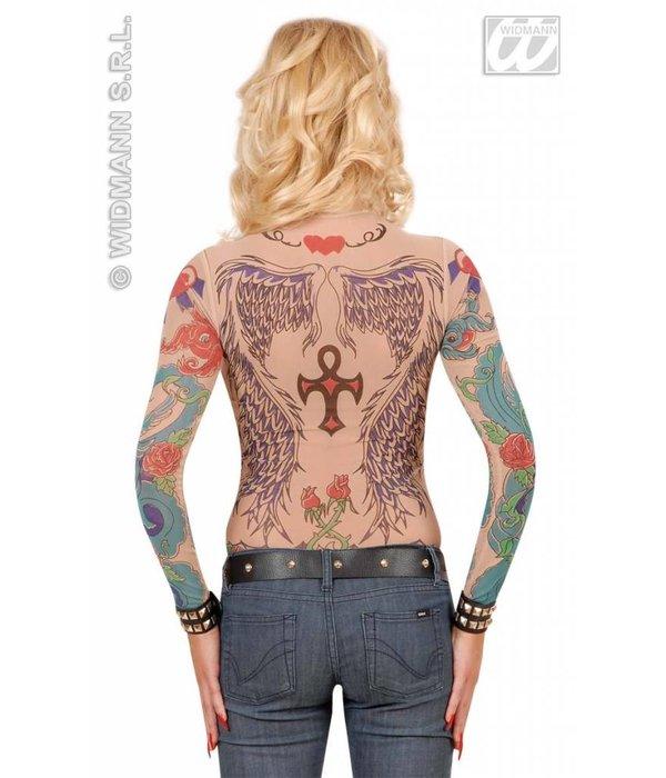Tattoo shirt engelenvleugel vrouw