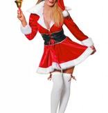 Miss Santa imitatie kostuum fluweel