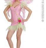 Sexy roze elfje kostuum