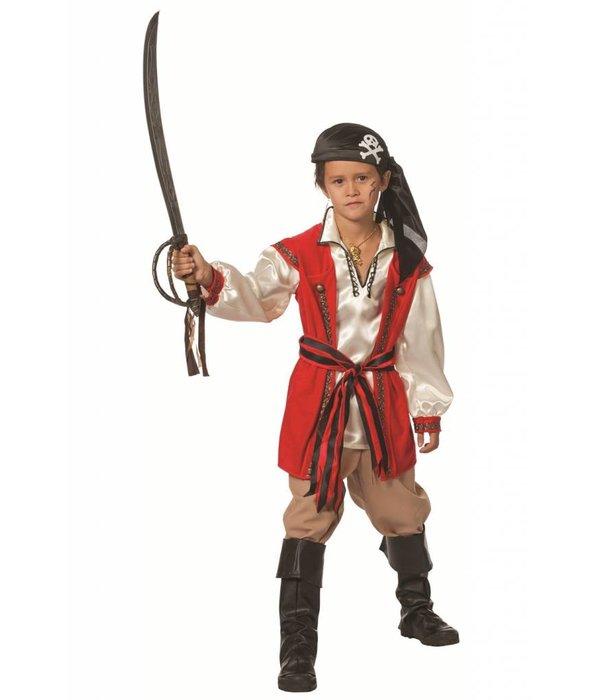 Piratenkostuum Red Beard jongen