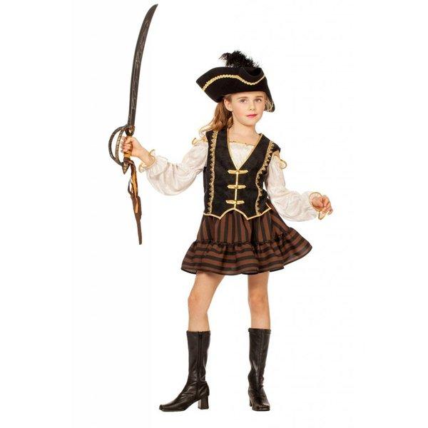Bruine Piratenjurk meisje