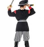 Piraat jongen zwart/wit streep