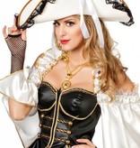 Luxe Piraten/Garde hoed wit