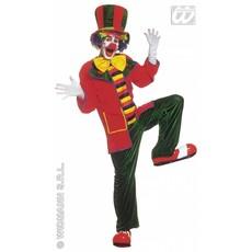 Clown kostuum fluweel elite