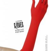 Handschoenen lycra 37cm rood