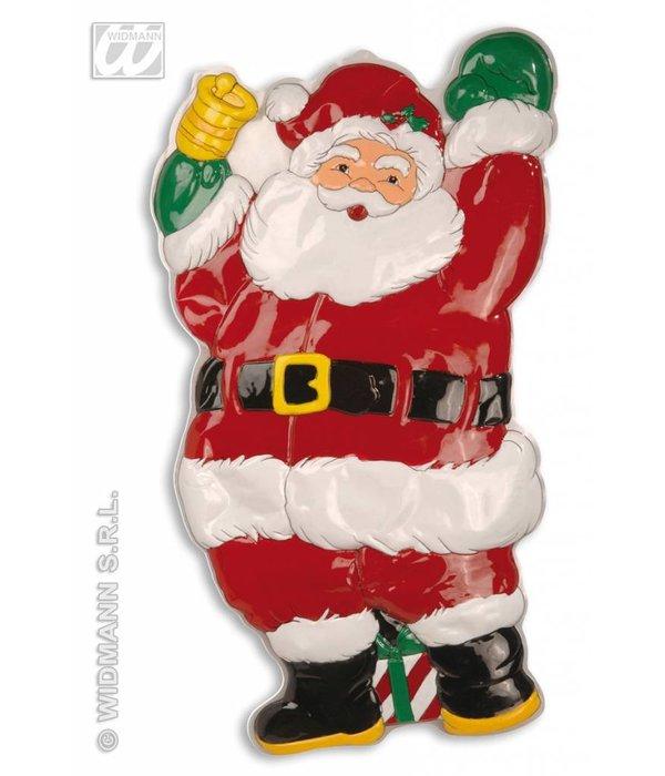 Wanddecoratie kerstman met bel