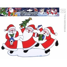 Horizontale kerstman sticker 40cm