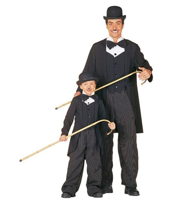 Charley Chaplin kostuum man bi-stretch