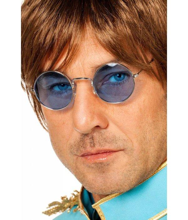 Hippiebril blauw