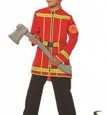 Brandweerjas kind 1-delig rood