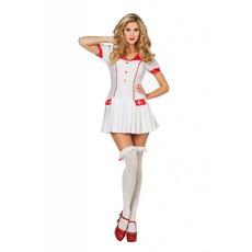 Verpleegster uniform met plooirokje