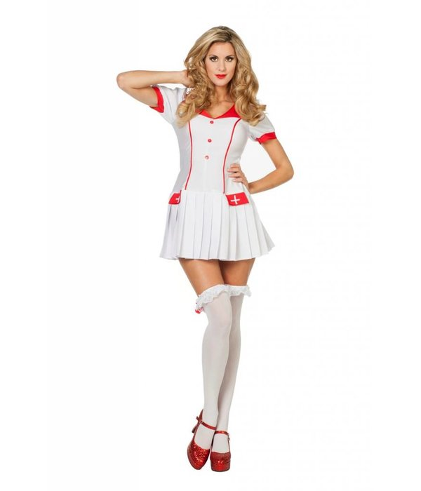Verpleegster met plooirokje