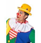 Bolhoed Clown met noppen geel