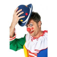 Bolhoed Clown met noppen blauw