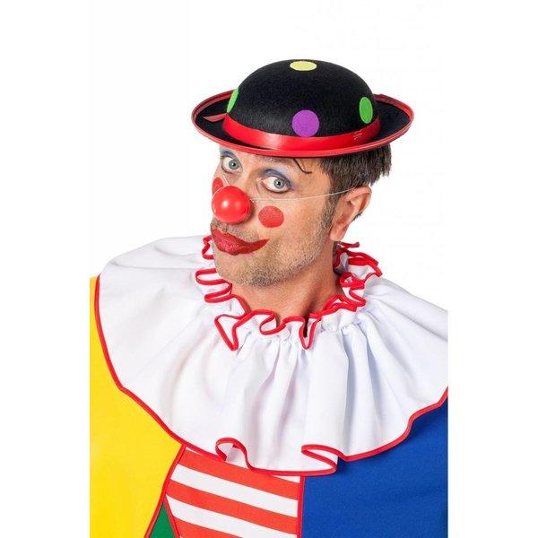 Clownhoed met noppen zwart