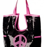 Tas pailletten peace hippie