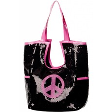 Tas pailletten peace hippie