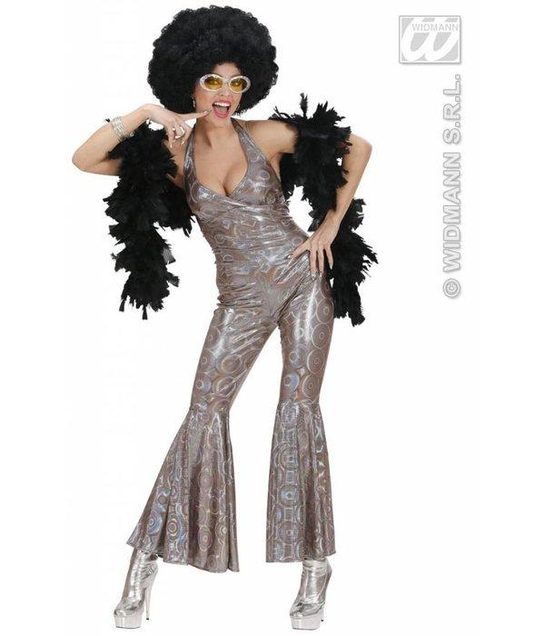 Disco queen holografisch kostuum
