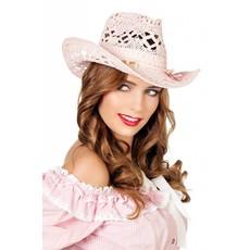 Strohoed elite dames roze