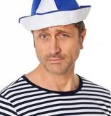 Matrozen hoedje blauw
