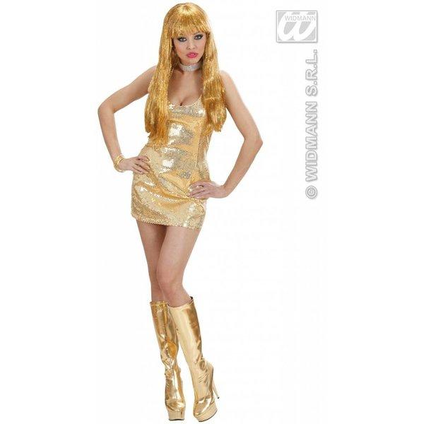 Paillettenjurk goud glimmend