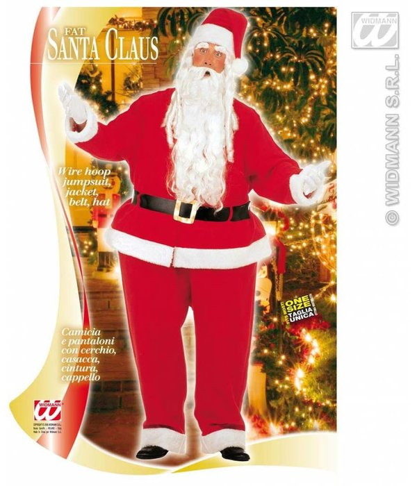 Dikke uitvoering kerstman kostuum