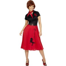 1950's style poedel kostuum vrouw