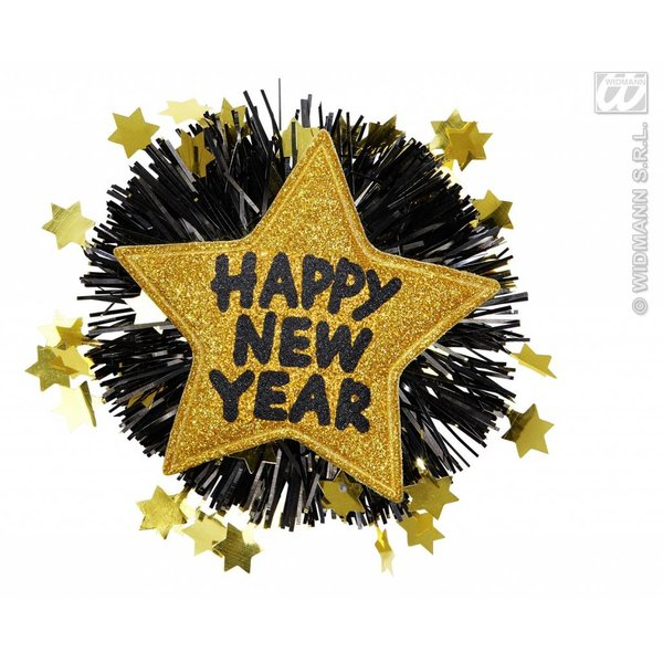Broche Happy New Year goud