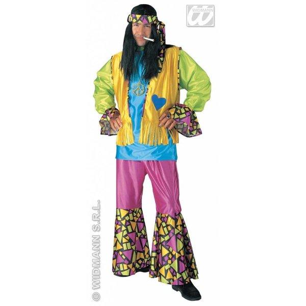 Carnavalskleding: Hippie kostuum man 4-delig Flow