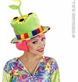 Fluwelen hoed zonnebloem