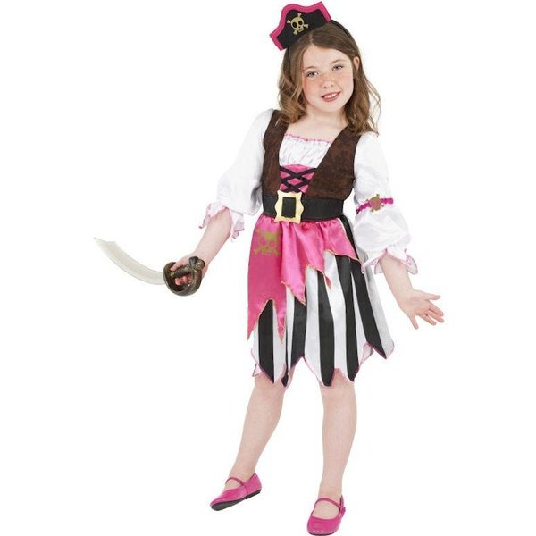 Roze piraten verkleedkleding kind