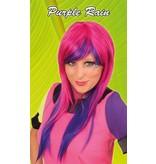 Pruik dip dye Purple rain
