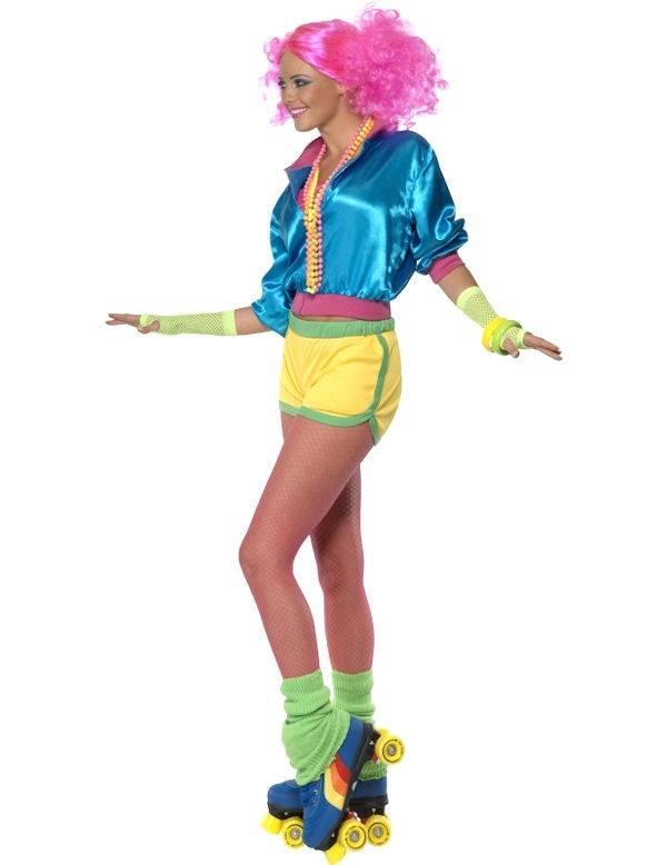 Jaren 80 skater kostuum dames for Decoratie jaren 80