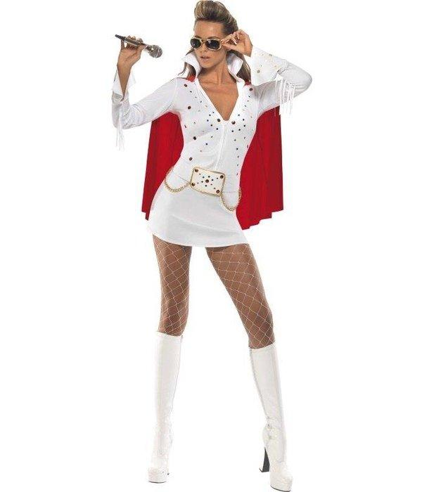 Genoeg Elvis viva Las Vegas kostuum wit/rood dames - Feestbazaar.nl #BK52